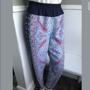 BCBG Max Azria Boho pants paisley print L